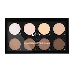 Набор консилеров для лица `NYX PROFESSIONAL MAKEUP` HIGHLIGHT & CONTOUR PRO PALETTE тон 01 для контурирования