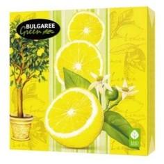 Салфетки бумажные `BULGAREE GREEN` трехслойные Лимон 20 шт