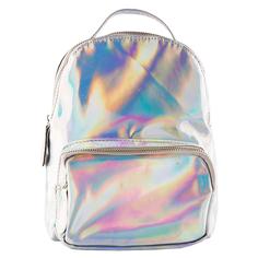 Рюкзак `LADY PINK` HOLOGRAPHIC серебряный