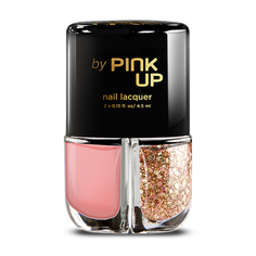 Набор лаков для ногтей `PINK UP` GLITTER GLAM тон 03 2x4 мл