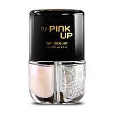 Набор лаков для ногтей `PINK UP` GLITTER GLAM тон 02 2x4 мл