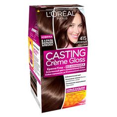 Крем-краска для волос `LOREAL` `CASTING` GLOSS тон 415 (Морозный каштан)