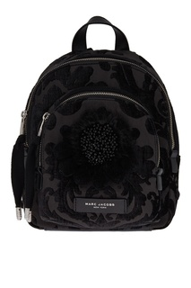 Черный текстильный рюкзак с помпонами Marc Jacobs