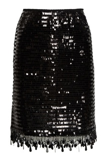 Черная юбка с пайетками Marc Jacobs