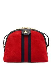 Красная замшевая сумка Ophidia Gucci