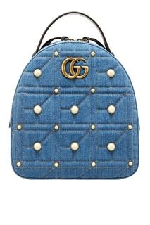 Рюкзак из денима GG Marmont Gucci