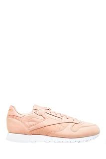Бежевые кроссовки из нубука Reebok
