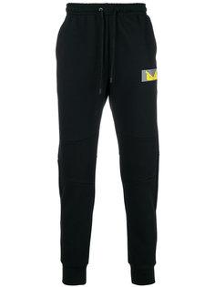 спортивные брюки с заплаткой с логотипом Fendi