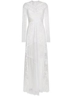 приталенное платье халтер с кружевом  Givenchy
