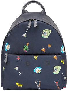 рюкзак с монограммным принтом Fendi