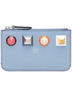 ключница с заклепками и логотипом Fendi