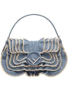 джинсовая сумка с оборками Fendi