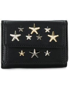 складной кошелек с заклепками в виде звезд Jimmy Choo