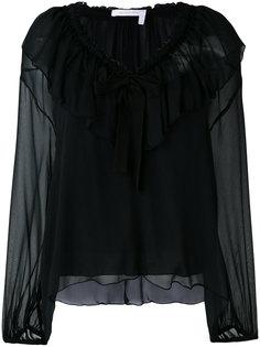 блузка с рюшами и завязками See By Chloé