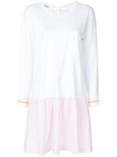 платье в тонкую полоску Miu Miu