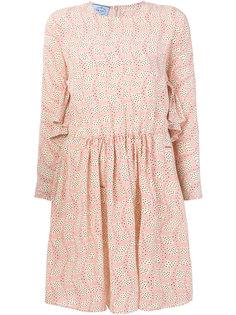мини-платье с длинными рукавами Prada