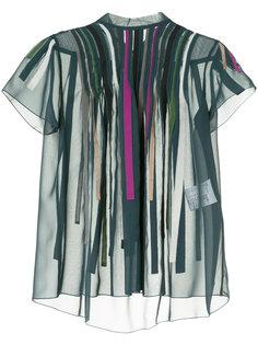 блузка с аппликацией в полоску Kolor
