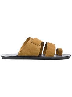 сандалии с ремешками крест-накрест Lanvin