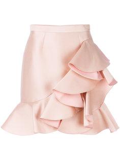 мини-юбка с оборкой  Stella McCartney