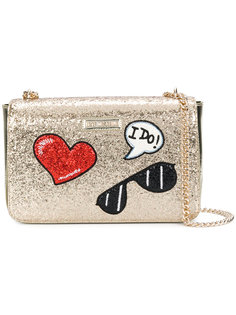 glitter shoulder bag Love Moschino