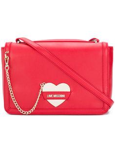 сумка-тоут с пряжкой в виде сердца Love Moschino