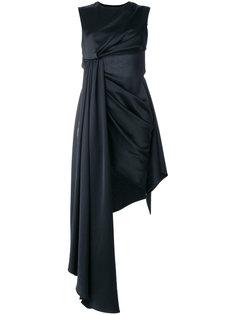 ассиметричное драпированное платье Off-White