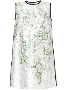 платье шифт с цветочным принтом  Prada