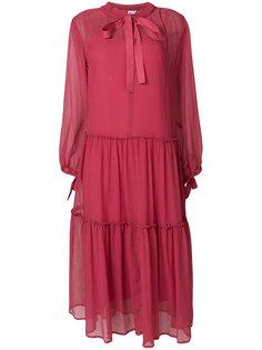 полупрозрачное платье миди с завязкой See By Chloé