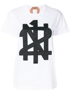 appliqué logo T-shirt Nº21