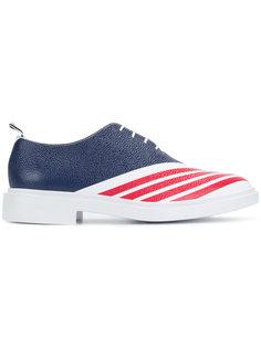 туфли в полоску на шнуровке Thom Browne