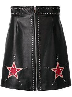 декорированная мини-юбка  Miu Miu