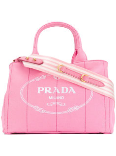 сумка-тоут с логотипом Giardiniera Prada