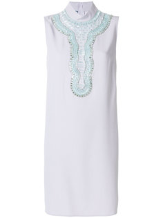 платье без рукавов с отделкой  Prada