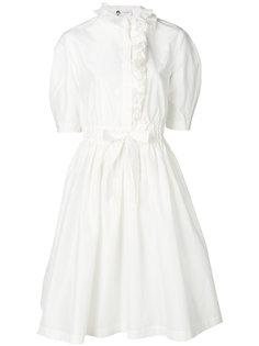 платье на пуговицах с рюшами Lanvin