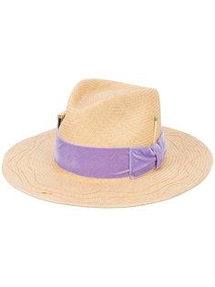 широкополая шляпа с лентой и бантом Nick Fouquet