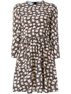 приталенное платье с принтом Prada