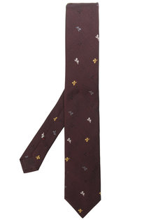 галстук с вышивкой листьев Prada