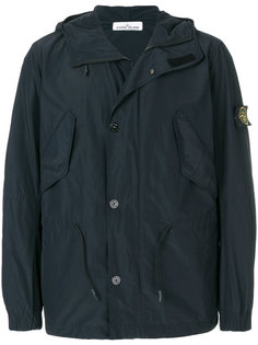 Micro Reps short hooded parka jacket Stone Island