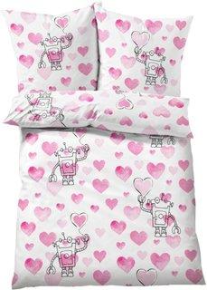 Постельное белье Валентина, линон (розовый) Bonprix