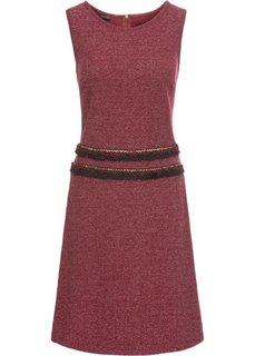 Платье с бахромой (бежевый с узором) Bonprix