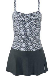 Платье купальное (черный/белый) Bonprix