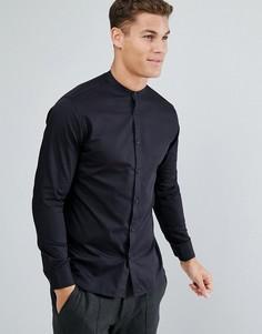 Рубашка узкого кроя с воротником на пуговице Selected Homme - Черный