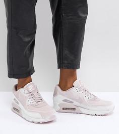 Бархатные кроссовки Nike Air Max 90 - Розовый