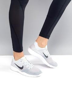 Серо-синие кроссовки Nike Training Free Flyknit - Мульти