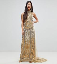 Декорированное платье макси A Star Is Born Petite - Золотой