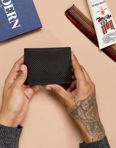 Черный кожаный бумажник Esprit - Черный