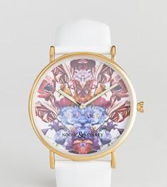 Часы с кожаным ремешком Noose & Monkey - Белый
