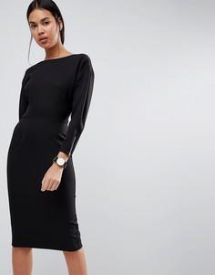 Платье-футляр миди в стиле 80-х ASOS - Черный