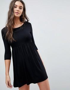 Свободное платье-футболка Lasula - Черный