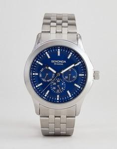 Серебристые часы с хронографом Sekonda эксклюзивно для ASOS - Серебряный